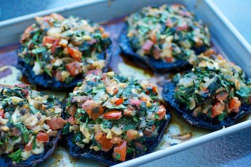 Vegetable stuffed portobello mushrooms 2