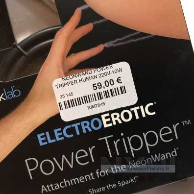 Test du Kinklab Power Tripper, extension du Neon Wand - NXPL