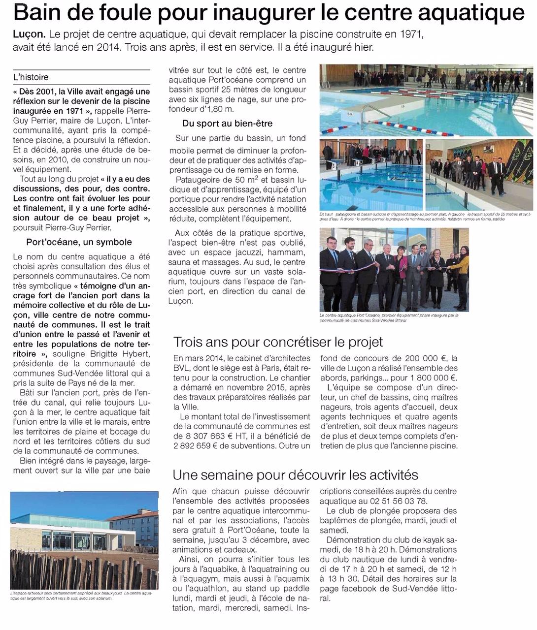 Inauguration de la piscine inter communale