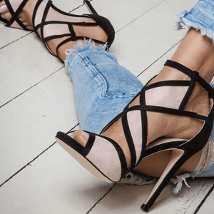 Cut Out Sandals 3 Colors