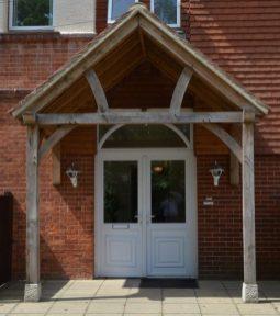 The front door to Nova House
