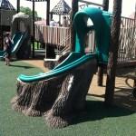tree slide at Chessie's Big Back Yard