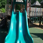 double slide at Chessie's Big Back Yard