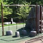 climbing ropes at Chessie's Big Back Yard
