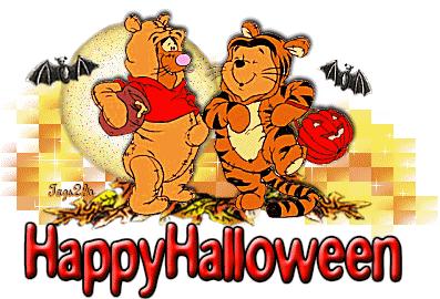 happy halloween pooh tigger wallpaper