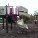 Twisty slide at Reston North Park