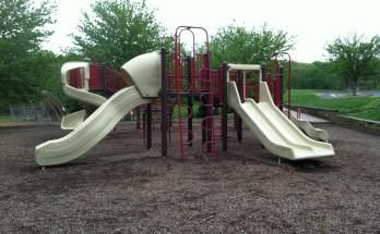 Climbing and slides at Reston North Park