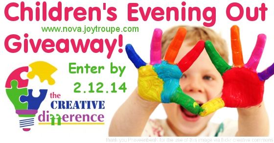 Creative Difference Children's Evening Out Giveaway Banner Enter by 2-12