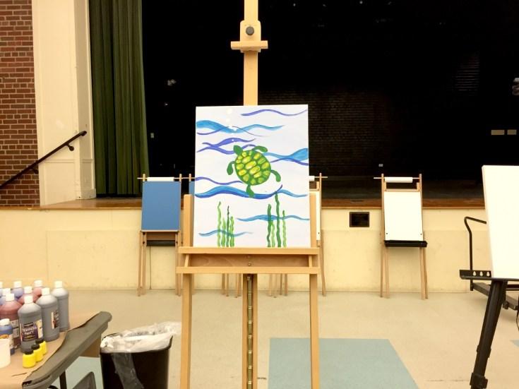 Family Paint Night Example Painting Joy Troupe NOVA Review