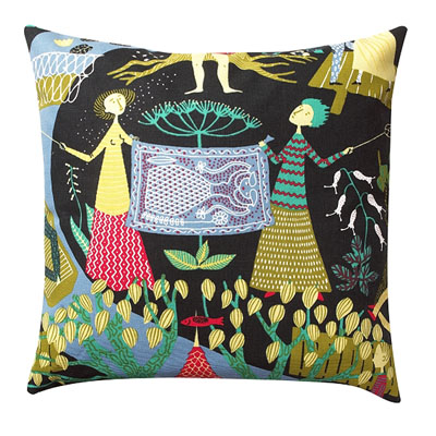 The Pleasure Garden Pillow Black