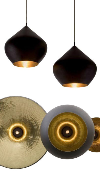 Beat Pendant Light Stout Large BlackCopper From Tom Dixon