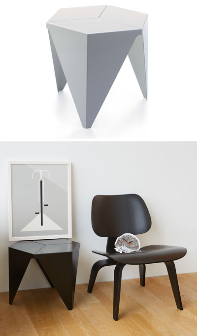 Vitra Design Aluminum Prismatic 15 Inch Side Table From
