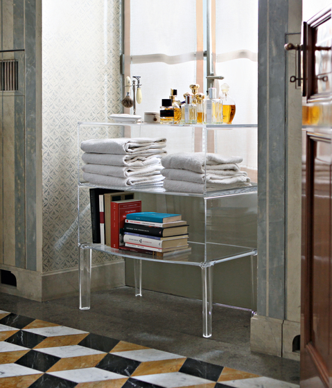 Free Standing Acrylic Lucite Bathroom Furniture Cabinet