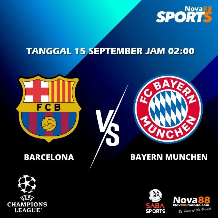 Prediksi Bola Barcelona VS Bayern Munchen - Nova88 Sports