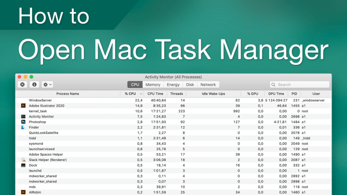 Task Manager on Mac: How to Find and Use the Activity Monitor