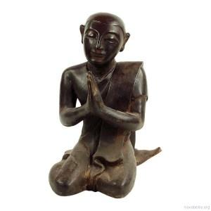 Monje sentado manos meditando 35,5cm