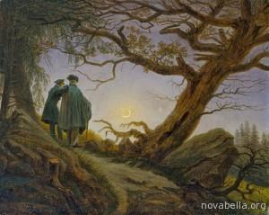 Dos_hombres_contemplando_la_luna_1830_Caspar_David_Friedrich_Metropolitan