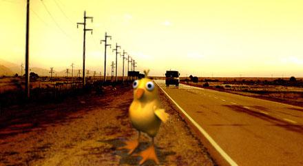 pollo de carretera