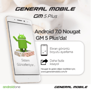 General Mobile GM 5 Plus - Android 7.0 Nougat
