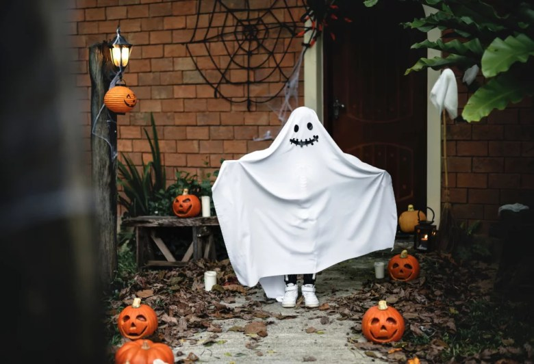 Kostium ducha na Halloween