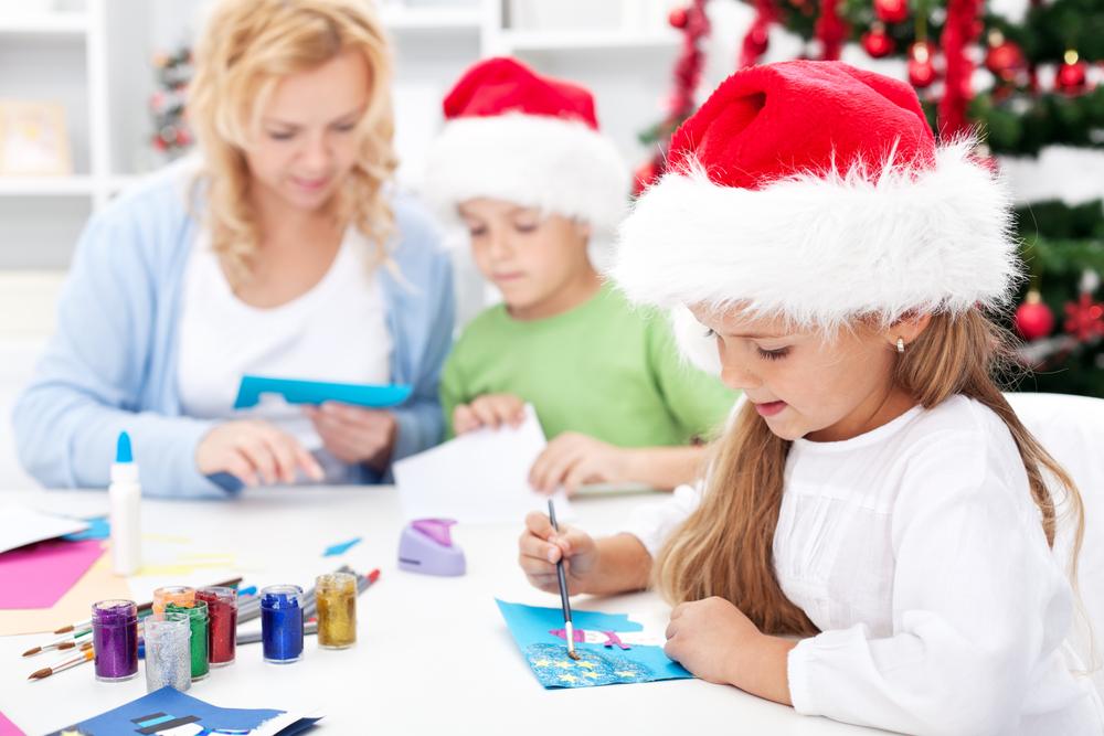 dekoracje świąteczne robione przez dzieci