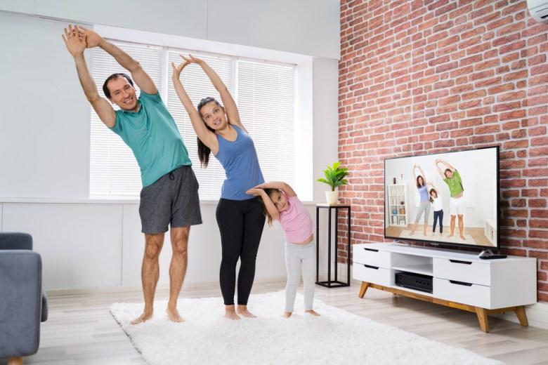 ćwicząca rodzina