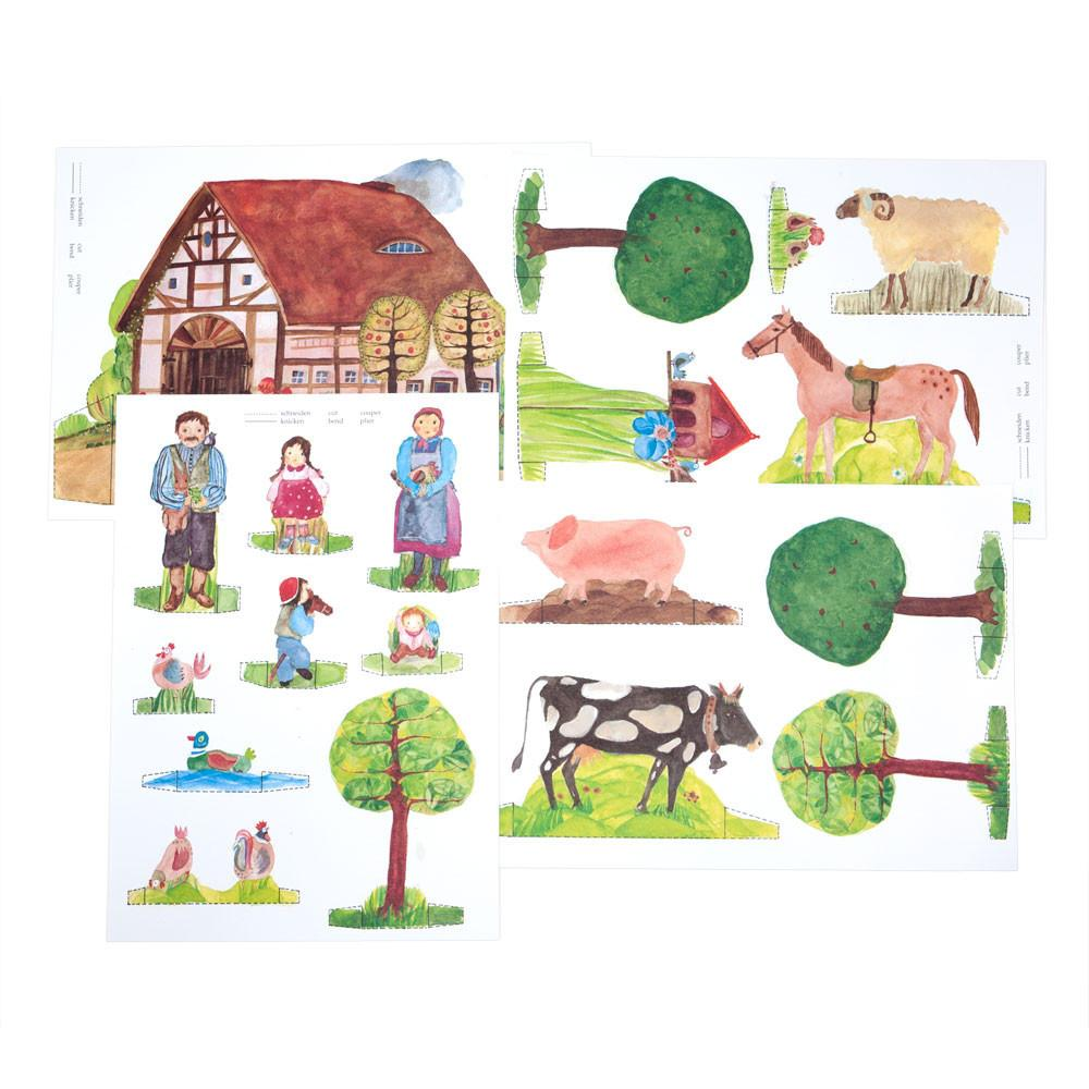 Farm Theme Paper Dolls Nova Natural Toys Amp Crafts
