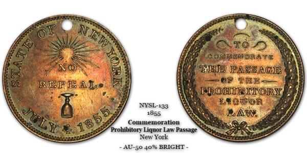 NYSL-133 New York Prohibitory Passage 1855