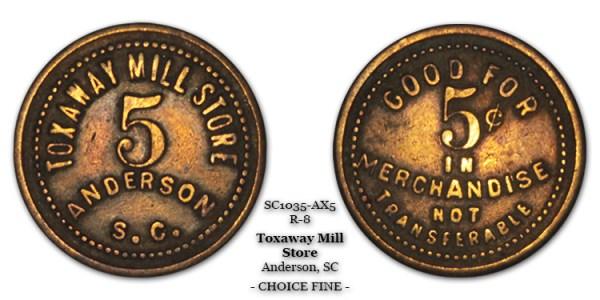 SC1035-AX5 Toxaway Mill Store Scrip