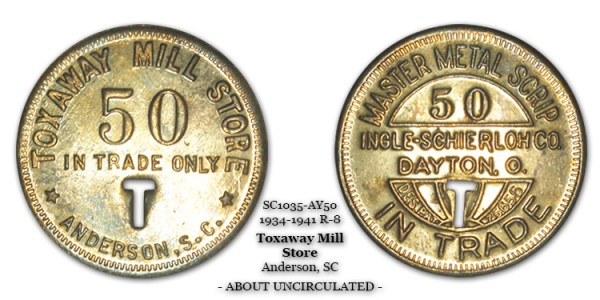 SC1035-AY50 Toxaway Mill Store Scrip