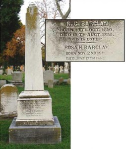Final Resting Place for R.C. Barclay, Elmwood Cemetery in Norfolk, VA