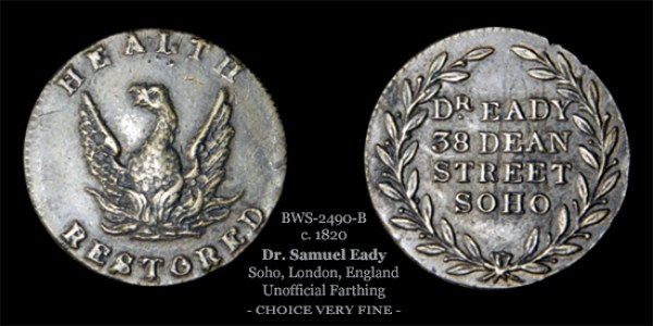Dr. Eady Farthing Token BWS-2490-B