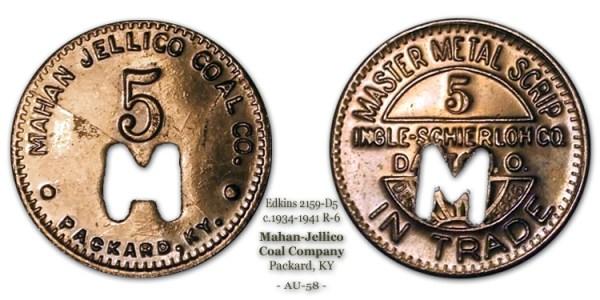 Edkins 2159-B5 Mahan Jellico Coal Company Packard Kentucky