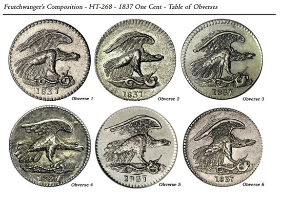 Feuchtwanger Cent Table of Obverses