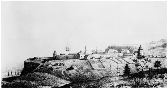 General View of Fort Ft Ross Before 1840 Russian Colony in Northern California