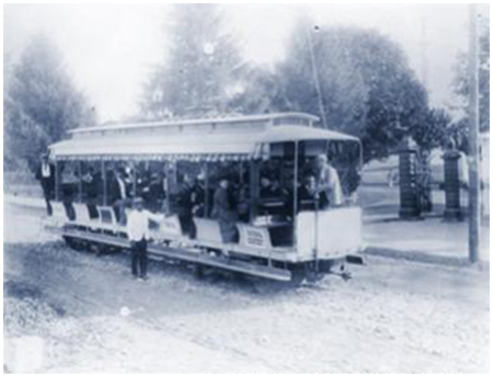 Gettysburg Electric Railway Token Trolley Photograph
