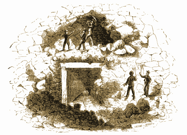 'Interior of a Copper Mine,' Harper's New Monthly Magazine, Volume 6, March 1853