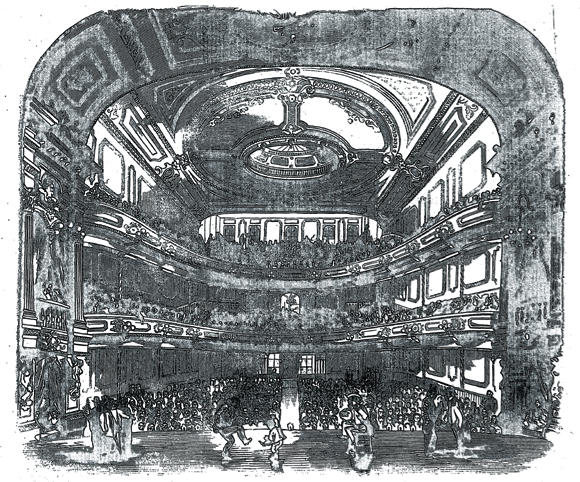 Interior of Wood's Marble Hall, Frank Leslie's Illustrated Newspaper, October 24 1857