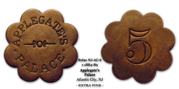 NJ-AC-6 Applegates Palace 5 cents