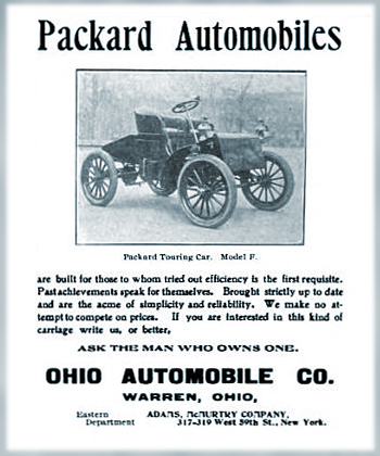 Ohio Automobile Company Warren Ohio Packard Automobiles