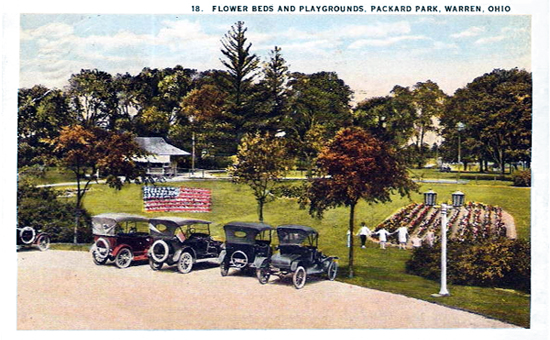 Flower beds and playgrounds, Packard Park, Warren Ohio