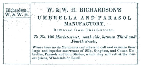 W. & W.H. Richardson's Umbrella and Parasol Manufactory