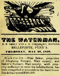 Plentiful & Hard Times At Baker's Furnace