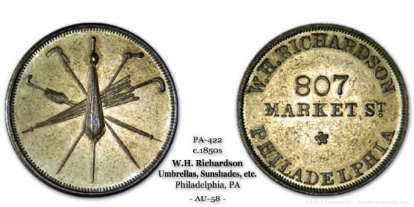 Miller Pa-422 circa 1859 W. H. Richardson 807 Market St  Philadelphia