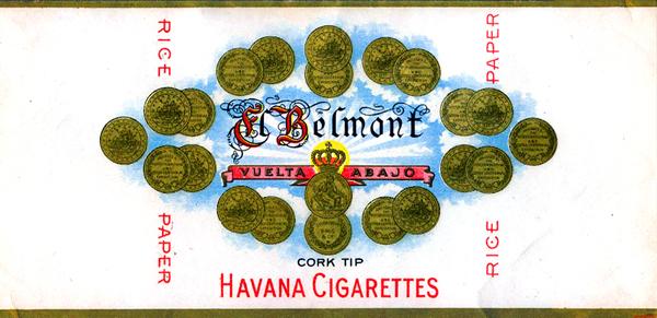 S. Hernsheim El Belmont Havana Cigarettes