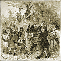 Rival Fur Traders Soliciting Trade
