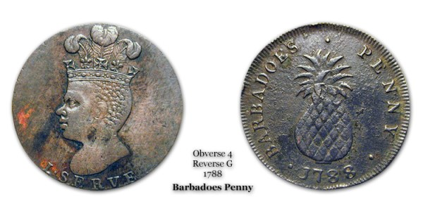 1788 Barbadoes Penny Obverse 4 Reverse G