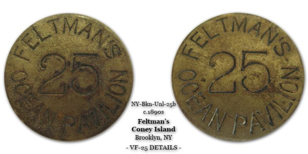 Feltmans Coney Island Token 25-cents
