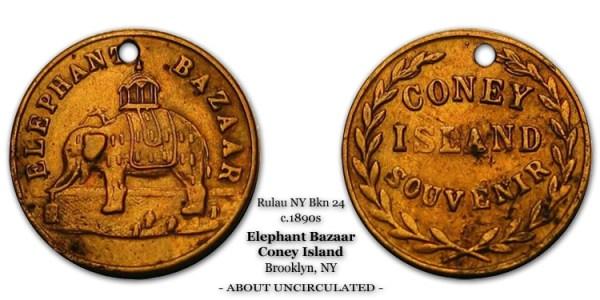 Rulau NY-Bkn-24 Elephant Bazaar