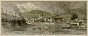 1872 Allegheny City Wood Engraving